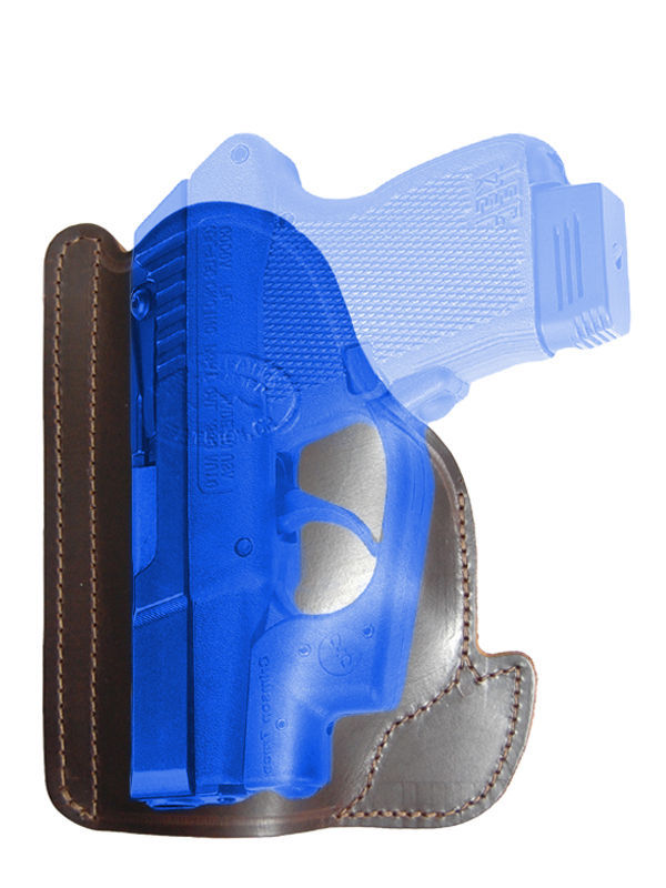 Primary image for New Barsony Brown Leather Gun Pocket Holster Mini .22 .25 .32 .380 w/ LASER