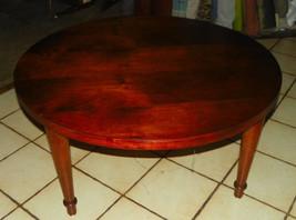 Round Cherry Mid Century Coffee Table - $499.00