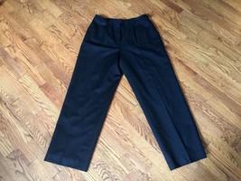 NWT Talbots Petites Womens Black 100% Wool Pants w/ Lining - Size 10 - $41.02