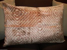 "Taupe Silk Velvet ""Shibori Style"" Accent Pillow Cover - $65.00"