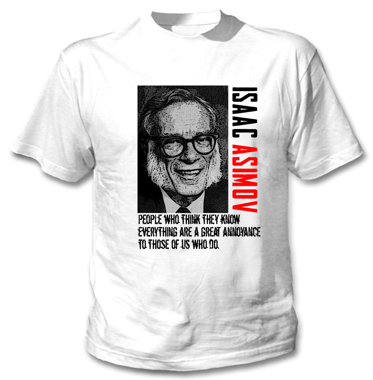 Primary image for ISAAC ASIMOV AMERICAN WRITER - NEW COTTON WHITE TSHIRT