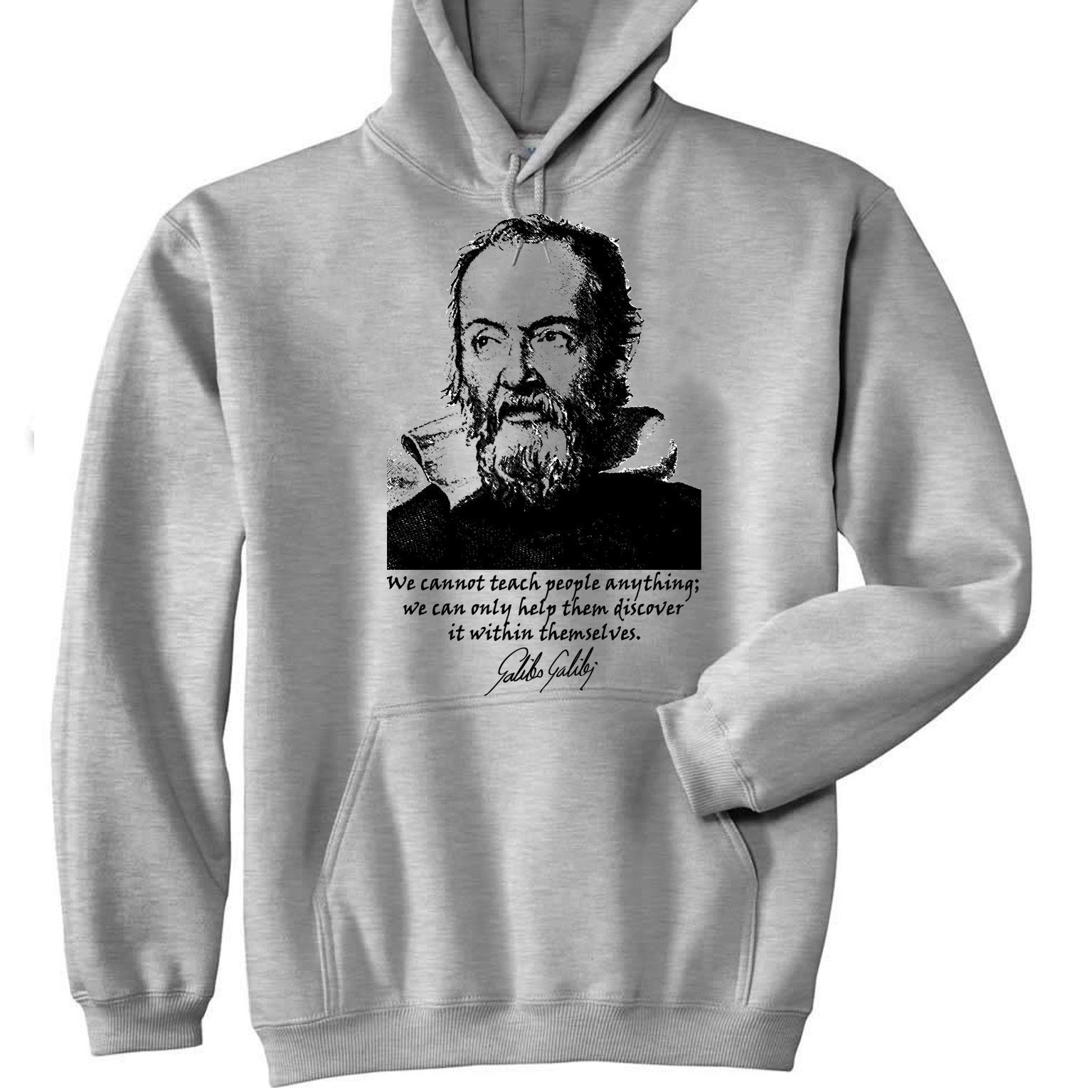 Primary image for GALILEO GALILEI - NEW COTTON GREY HOODIE - ALL SIZES IN STOCK