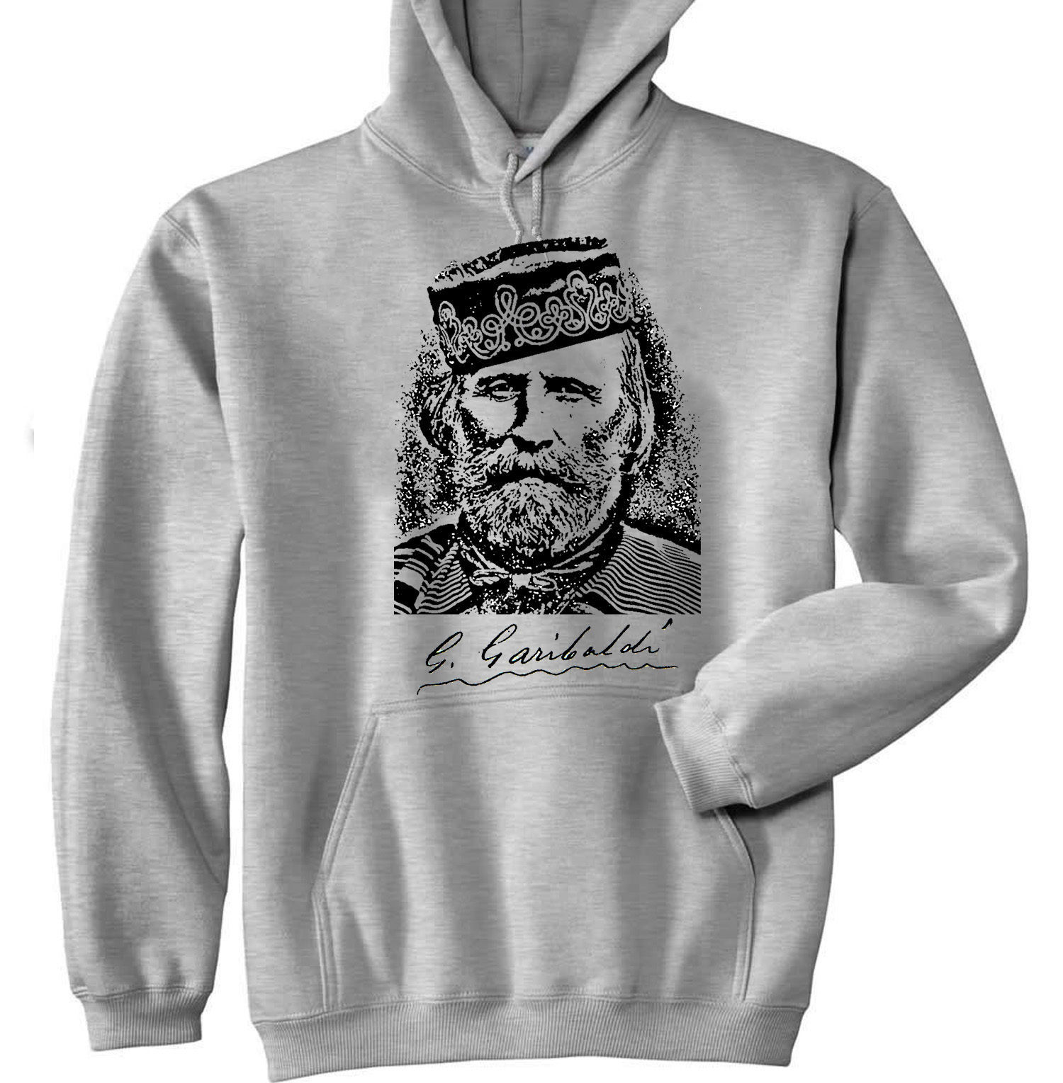 Primary image for GIUSEPPE GARIBALDI - NEW COTTON GREY HOODIE - ALL SIZES IN STOCK