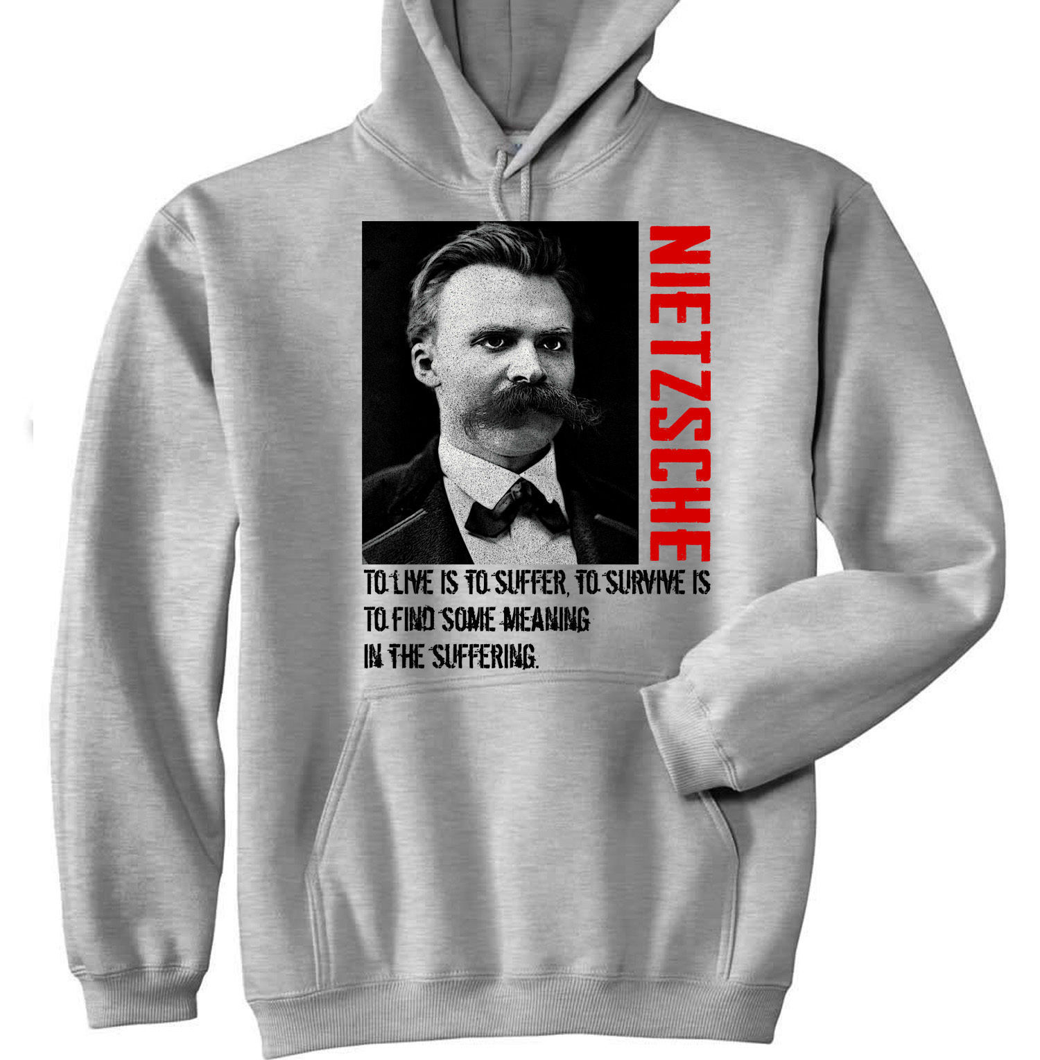 Primary image for FRIEDRICH NIETZSCHE - NEW COTTON GREY HOODIE - ALL SIZES IN STOCK