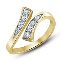14k Yellow Gold Plated 925 Pure Sterling Silver Round Simulated Diamond Toe Ring - $9.99