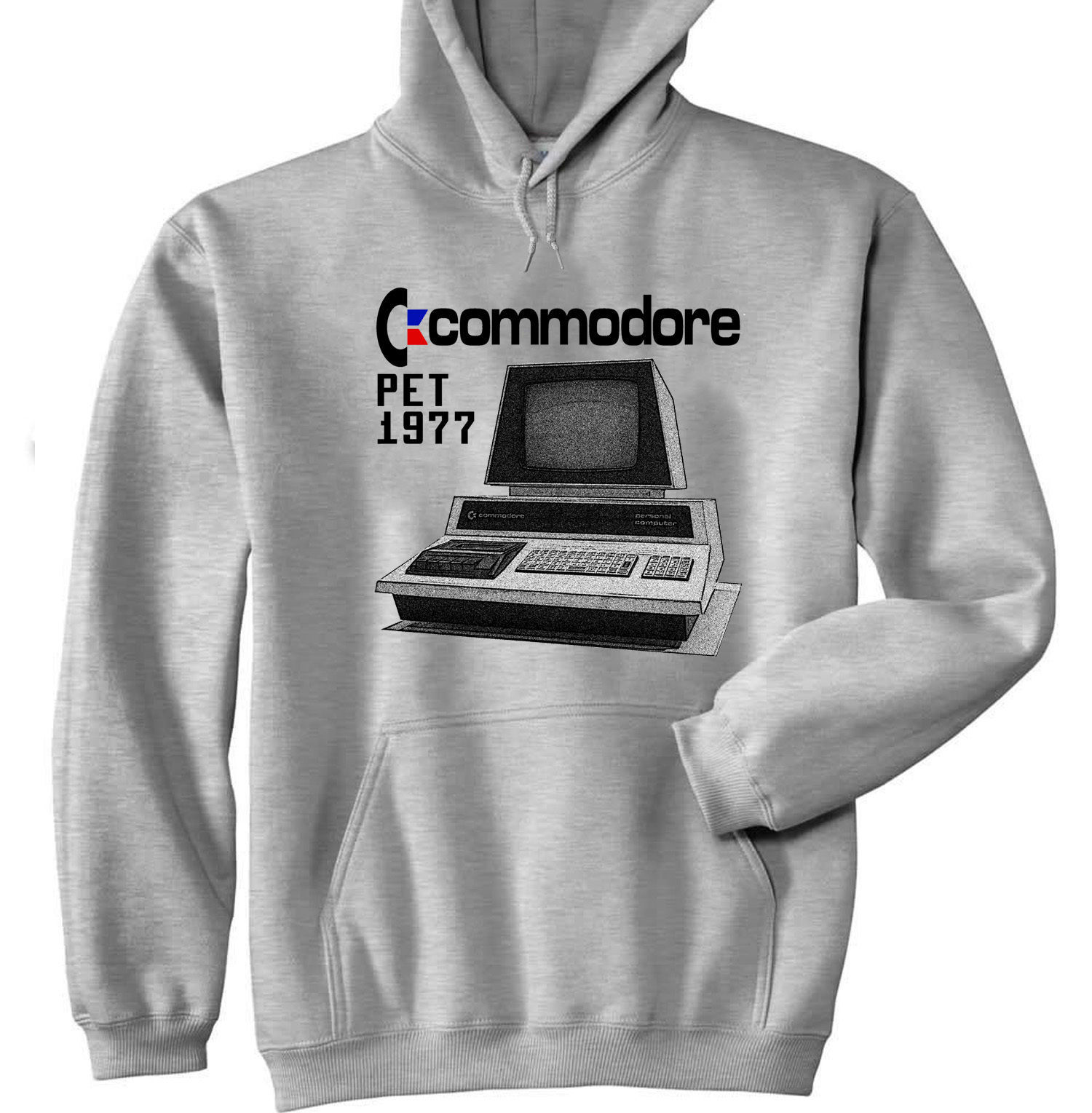 Primary image for COMMODORE PET 1977 - NEW COTTON GREY HOODIE - ALL SIZES IN STOCK