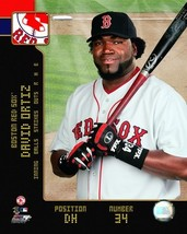 David Ortiz Boston Red Sox 2008 SP Vintage 8X10 Color Baseball Memorabil... - $3.99
