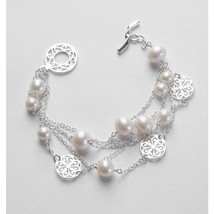 Women's Sterling Silver Wrought Iron Gate Inspired 4 Strand Bracelet wit... - $149.99