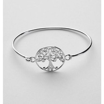 Women's Sterling Silver .925 Oak Tree 22.0mm Flip Top Bangle Bracelet - $129.99