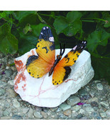 Yellow Mocker Swallowtail Butterfly Lost Wax Bronze Casting Collectible Statue - $69.95
