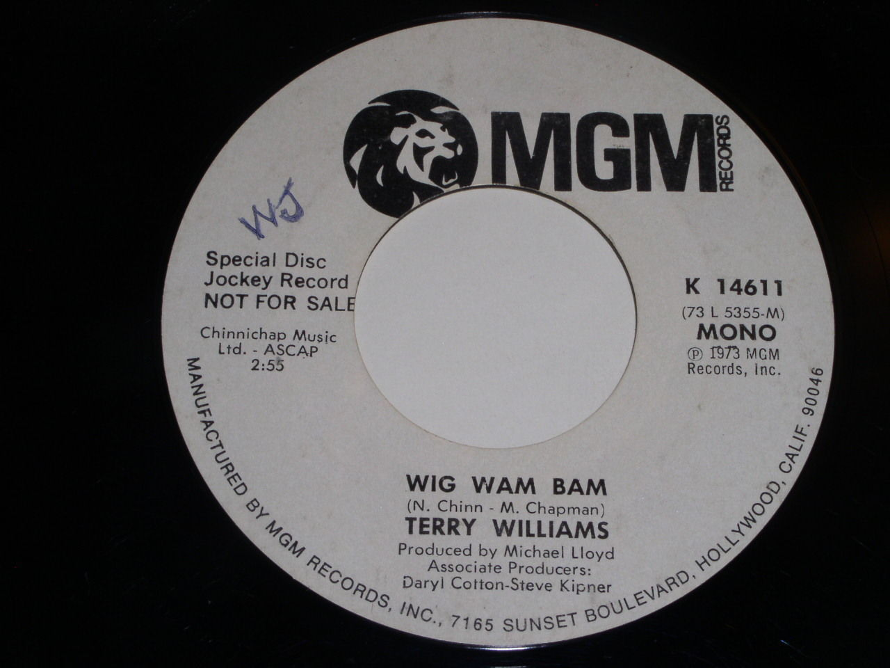 Primary image for Terry Williams Wig Wam Bam Promo 45 Rpm Record Vintage MGM Label
