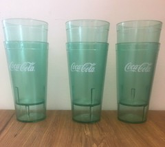 New (6) Coca Cola Cups Green - Made in USA -  20oz - $9.89