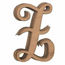 Wooden Cursive Alphabet Letters, Natural, 3-Inch, 6-Piece #PS_16711 (Z) - $13.86