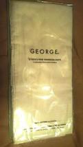 GEORGE MEN'S FINE HANDKERCHIEFS 100% COTTON, RING SPUN, 6 PACK  - NEW / ... - $9.65