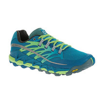 Merrell All Out Peak Men's 14 US Trail Running Shoes Blue / Bright Green New NIB - $69.99