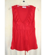 Piper & Blue Womens Red Sleeveless Summer Top   SZ L   NWOT - $5.99