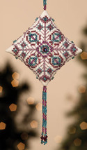 Royal Plum Tiny Treasures Diamond Ornament Kit 2013 cross stitch Mill Hill - $8.10
