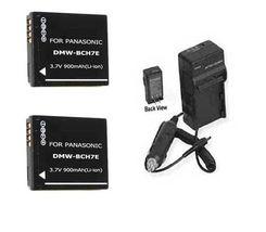 2 Batteries + Charger For Panasonic Dmc Fp3 P R Dmc Fp3 Pa Dmc Fp3 R Dmc Fp3 S Fp3 V - $18.68