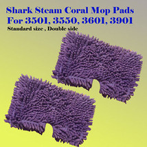 2x Coral Steam Mop Cleaning Microfiber Pad For Shark S3501 S3601 S3901 S... - $16.61