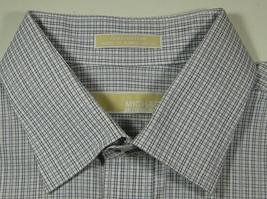 MICHAEL KORS 17.5 x 34/35 Gray White Plaid Checks Gingham Dress Shirt - €59,52 EUR