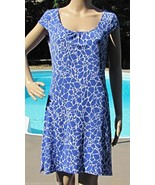 Size S Shift Dress Laundry By Design LBD Blue White Giraffe Print MSRP $... - $26.88