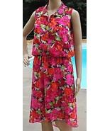 Multicolor Floral Asymmetrical Hi Low Hem Spring Summer Lined Dress Size... - $20.98