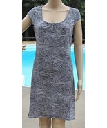 Laundry By Design Size M L XL Shift Dress Animal Print Black White Zebra... - $29.39