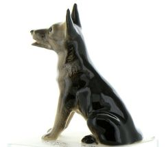 Hagen Renaker Dog German Shepherd Sitting Ceramic Figurine image 3