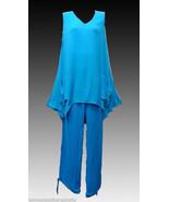 2 Piece Lounge Set Womens Pants Uneven Hem Top ONE SIZE NWT - $14.40