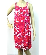 Size 6 Sheath Dress Donna Ricco Silver Chain Neck Sarong Style Pink Fuch... - $35.70