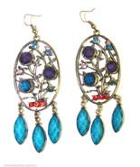 Crystal Chandelier Archaize Vintage Design Long Dangle Drop Earrings #6 - $12.86