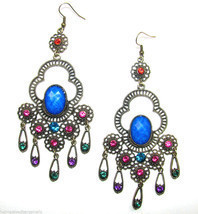 Crystal Chandelier Archaize Vintage Retro Long Dangle Drop Earrings #26 - $284,70 MXN