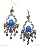 Crystal Chandelier Archaize Vintage Retro Long Dangle Drop Earrings #26 - £10.68 GBP