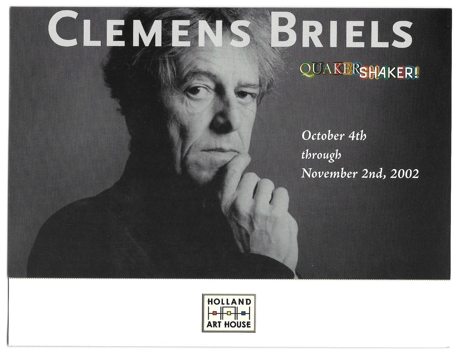 Primary image for West Chester PA Clemens Briels Art Exhibit 2002 Invitation Holland Art House