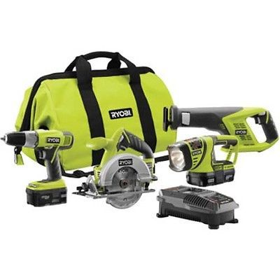 Primary image for Ryobi 18 Volt Lithium 4-Piece Combo Kit