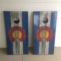 Colorado flag Corn Hole Boards - Bean Bag Toss Game - $217.80