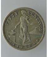 U.S. Philippine 1908s, 50 Centavos Silver Coin-... - $96.00