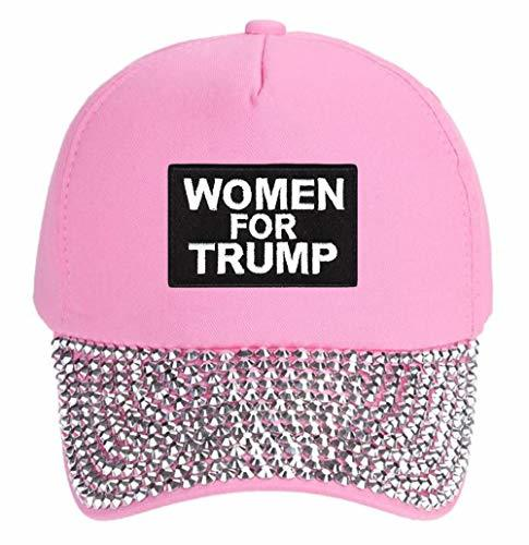 Women For Trump Hat - Adjustable Cap (Pink Studded)