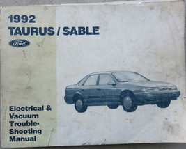 1992 Ford Taurus Sable Service Manual Wiring Diagram Electrical OEM Factory - $2.66