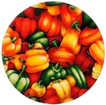"Andrea's Market Peppers Heat Resistant 8"" Round... - $14.96"
