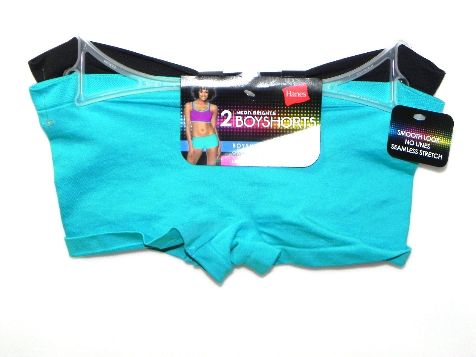 cd534ef60bd 57. 57. Hanes Women s 2pc Neon Brights Boyshorts Panties Limited Time Only Size  S 5  Hanes Women s ...