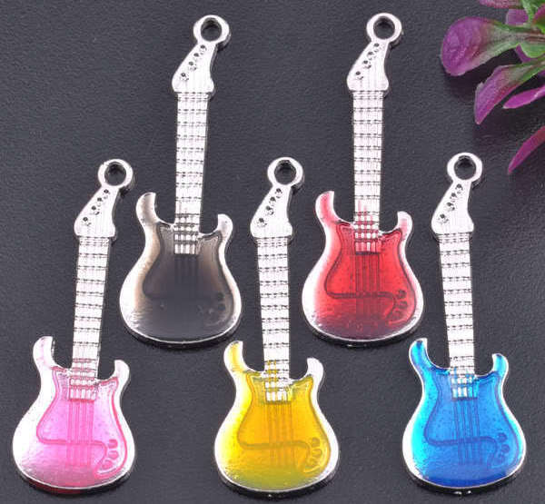 18KGP Enamel Guitar Charms