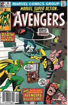 Marvel Super Action Comic Book #35 The Avengers 1981 VERY FINE- - $3.75