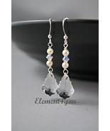 Swarovski earrings, Baroque crystal drop, Sterling silver, SALE - $17.00