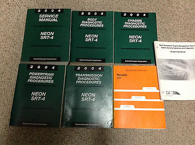 2004 DODGE NEON SRT 4 Service Repair Shop Manual Set W Diagnostics & Recalls OEM