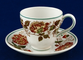 Wedgwood Surrey Rust Demitasse Cup & Saucer Etruria TL421 - $7.99