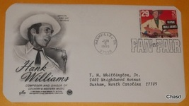 First Day Cover- Hank Williams - $8.00