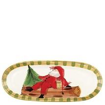 Vietri Holiday Santa Old St. Nick Narrow Oval S... - $170.17