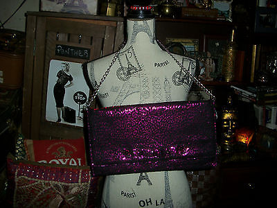 Primary image for BETSEY JOHNSON Divalicious Purple Studded Clutch
