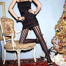 Collant To Band Bi Color Black IN Nylon for Women / Collant Sexy Transpa... - $5.67+